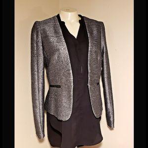 H & M | Gray & Black Blazer Jacket